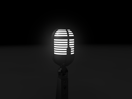 Microphone with internal light by Valadj