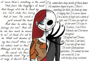 Sally and Jack (Nightmare before Christmas) by WilloWhisper18