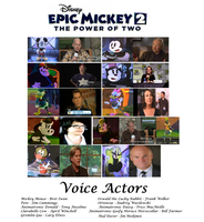 Epic Mickey 2 : The Power of Two voice actors by jtwo22
