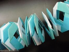 Origami Slinky by OrigamiPieces