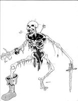 Undead, Skeleton by Level9Drow