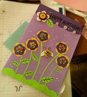Button Birthday Card by YamPuff