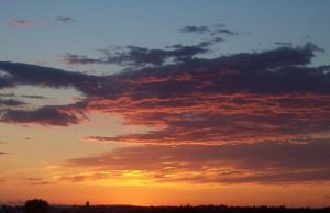 Sunset over Moses Lake BRW by Llewenayah