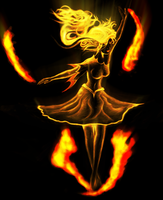 Dance of the Fire Princess by w12x