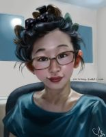 Selfportrait by kimchii