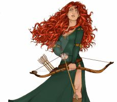 Merida - Brave (Collaboration) by Elliepamp