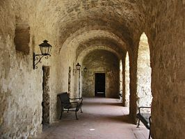 Outside Archway. Mission Concepcion by CorazondeDios