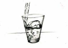 A glass of water by AviArts