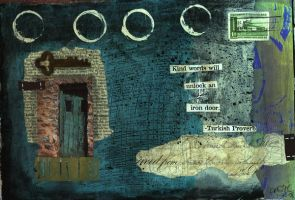 door-art journal page by KristyC