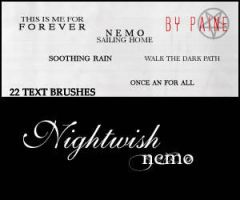 Nemo - Text Brushes by NemesisDivina666