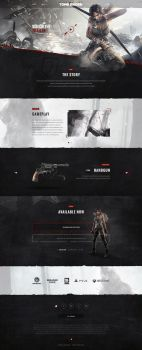 Rise Of The Tomb Raider Website by kristaps-design