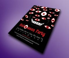 Halloween Flyer - Horror Vector Eyes by VictoriousD