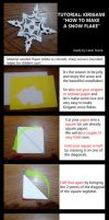 TUTORIAL Kirigami *How to make a snow flake* by DarkUmah