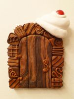 Chocolate Cherry Fairy Door by FlyingFrogCreations
