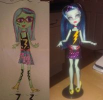 Monster High OC Doll: Abigail Lighteningbolt by ivy-cinder