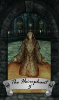 Skyrim Tarot 5 - The Hierophant by Whisper292