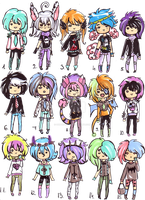 Pastel Goth boys 1 -CLOSED. by Guppie-Adopts