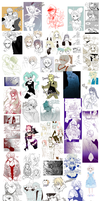 Huge wall of doodles by kissai