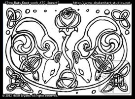 Rat Knotwork Design Lineart by halfbreed