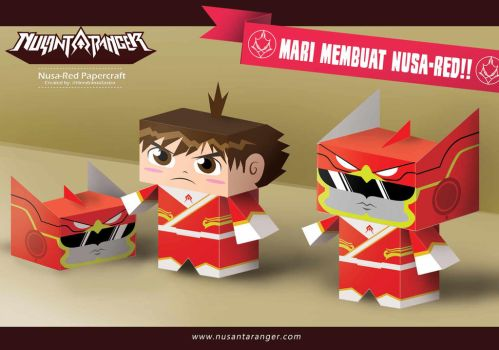 Nusa-Red Papercraft by HNDRNT26