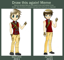 Before and after Meme::Dante by SWIRL3Y