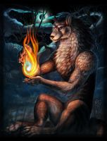 Estel Wolfe ~The Fire Caller~ by Guardian-Beast