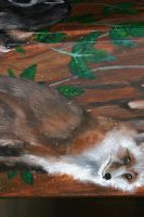 Finished Mural - detail 2 by horusfeathers