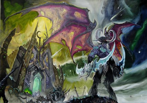 Illidan Stormrage by Inlacrimas
