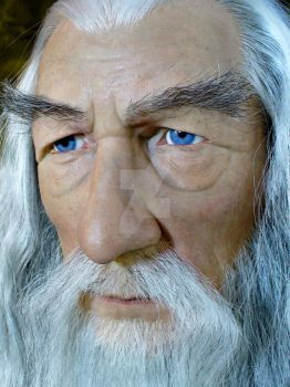 Ian McKellen as Gandalf 1:1 by scottstoybox