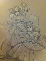 Kyoshi Warriors Suki and Ty Lee by CodyandGwen