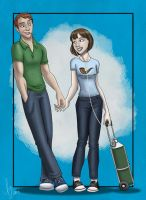 Hazel Grace and Mister Waters by kuabci
