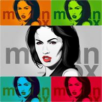 Megan Fox Colour Play by iPeccatore