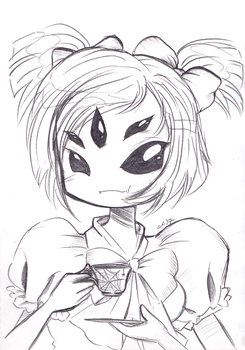 Muffet Undertale by Cosmic-Sugar