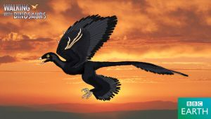 Walking with Dinosaurs: Microraptor by TrefRex