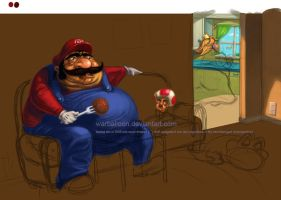 don't eat me, mario by warballoon