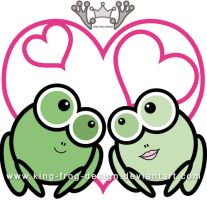 Frogs in love by king-frog-design