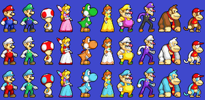 New Mario Sprites by koopaul
