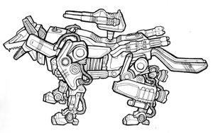 Zoid Line Drawing by Trixel