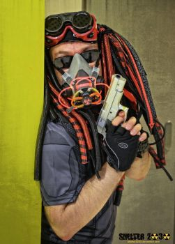 Cybergoth cybercop close-up by Shelter2030