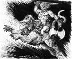 He-Man and Battle Cat by skeel76