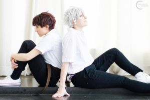 Neon Genesis Evangelion - Kaworu and Shinji by denni-cosplay
