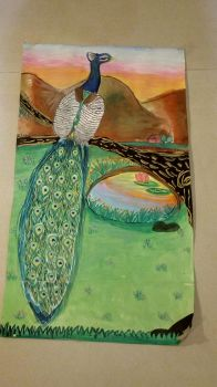 Old Art - Peacock (2014) by lillianchongart