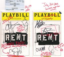 RENT Playbill by caitlynrk