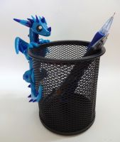 Dragon Pencil Holder by ByToothAndClaw