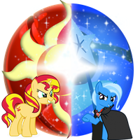 Sunset vs Trixie, Google Chrome Icon. by Flutterflyraptor