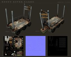 Rusty River Barge by dematics