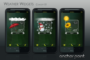 Android Weather Widgets Concept by 4honshex