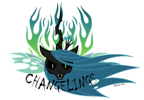 90. Changeling Army Patch by Skeletal-K9