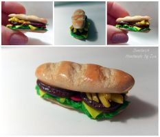Polymer clay Sandwich by SweetIva
