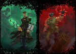 Green and Red by foreest83